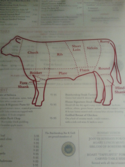 The menu got me in the mood for some cow!